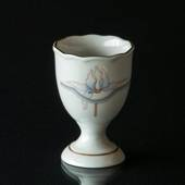 Hackefors Egg Cup, white with blue/grey decoration