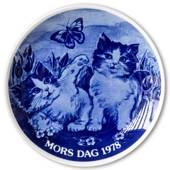 1978 Hansa Mother's Day plate, cat