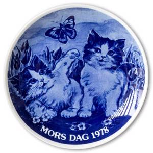 1978 Hansa Mothers Day plate, cat | Year 1978 | No. HAM1978 | DPH Trading