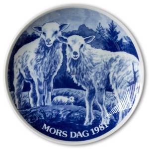 1981 Hansa Mothers Day plate, sheep | Year 1981 | No. HAM1981 | DPH Trading