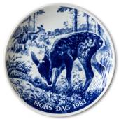 1983 Hansa Mother's Day plate, deer