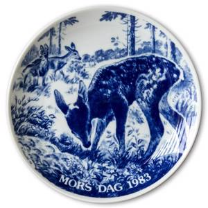1983 Hansa Mothers Day plate, deer | Year 1983 | No. HAM1983 | DPH Trading