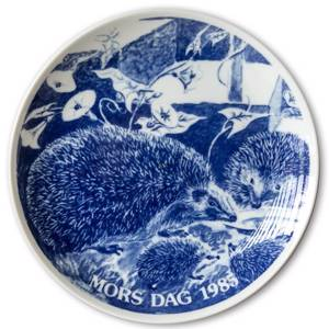 1985 Hansa Mothers Day plate, hedgehog | Year 1985 | No. HAM1985 | DPH Trading