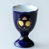 Carl XVI Gustaf and Silvias Wedding Hackefors Cobalt Blue King Egg Cup