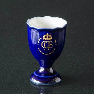 Prins Carl Philip Hackefors Cobalt Blue King Egg Cup | No. HBSA09 | DPH Trading