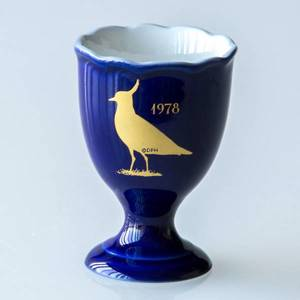 1978 Hackefors Cobalt Blue Egg Cup Northern Lapwing