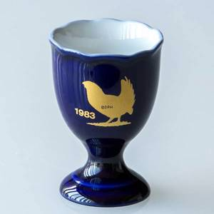 1983 Hackefors Cobalt Blue Egg Cup Black Grouse | Year 1983 | No. HBSA1983 | DPH Trading