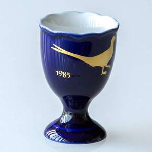 1985 Hackefors Cobalt Blue Egg Cup Pheasant | Year 1985 | No. HBSA1985 | DPH Trading