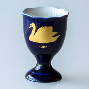 1987 Hackefors Cobalt Blue Egg Cup Swan | Year 1987 | No. HBSA1987 | DPH Trading