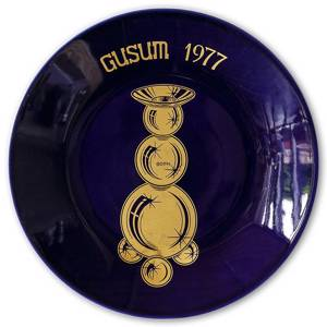 Hackefors Gusum collectible series, plate no. 2, candlestick no. 82 or 029 | Year 1977 | No. HBSG02 | DPH Trading
