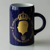 Hackefors king series, mug no. 2, Gustaf VI Adolf