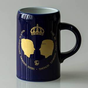 Hackefors king series, mug no. 6, Royal Wedding, Carl XVI Gustaf and Silvia | No. HBSK06 | DPH Trading