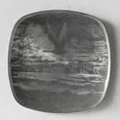 Helgi Joensen Pewter Christmas plate 1981 The See Bird