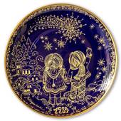 1984 Hackefors Cobalt Blue Children's Christmas Plate