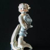 Goebel Hummel Monthly Figurine November Boy with Shawl in the Wind 1978