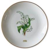 1986 Hackefors mother's day plate Lily of the Valley