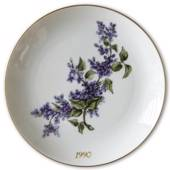 1990 Hackefors mother's day plate Lilac