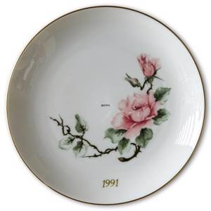 1991 Hackefors mothers day plate Rose | Year 1991 | No. HMT1991 | DPH Trading