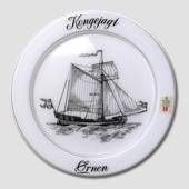 1977 Holmegaard ship plate, the king's ship Ørnen