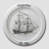 1981 Holmegaard Ship plate, the flag ship Sct. Peter