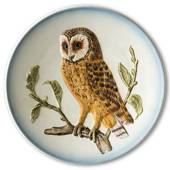 Hummel Goebel Wildlife plate with bird, owl