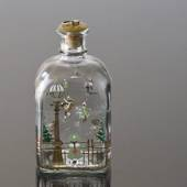 Holmegaard Christmas Bottle 1988, capacity 65 cl.