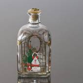 Holmegaard Christmas Bottle 1990, capacity 65 cl.