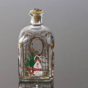 Holmegaard Christmas Bottle 1990, capacity 65 cl. | Year 1990 | No. HXF1990 | Alt. DG.1853 | DPH Trading