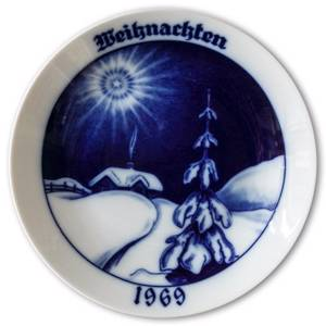 1969 Hackefors Christmas plate with German Text