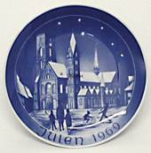 1969 Bareuther & Co. Christmas church plate, Ribe Cathedral