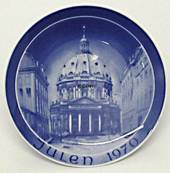 1970 Bareuther & Co. Christmas church plate, The Marble Church