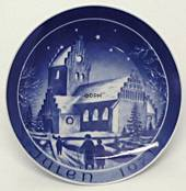 1971 Bareuther & Co. Christmas church plate, Ejby Church