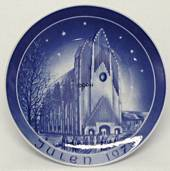 1973 Bareuther & Co. Christmas church plate, The Grundtvig Church