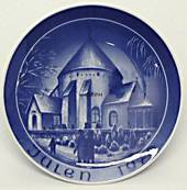 1976 Bareuther & Co. Christmas church plate, Osterlars Round Church