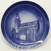 1977 Bareuther & Co. Christmas church plate, Budolfi Cathedral