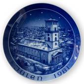 1981 Bareuther & Co. Christmas church plate, Lady's Church