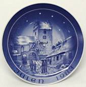 1983 Bareuther & Co. Christmas church plate, Udby Church