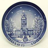 1984 Bareuther & Co. Christmas church plate, Herning Church