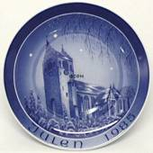 1985 Bareuther & Co. Christmas church plate, Slangerup Church