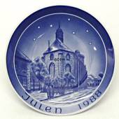 1988 Bareuther & Co. Christmas church plate, Trinitiatis Church