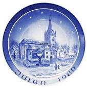 1989 Bareuther & Co. Christmas church plate, Mikkel's Church