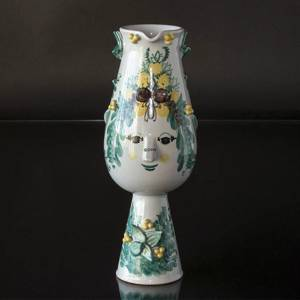 Wiinblad Faun-Jug , hand painted, blue/white or multi colour | No. K-6 | DPH Trading