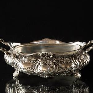 Flower pot cover,small oblong in Rococo style | No. K1029 | Alt. 112126BC | DPH Trading