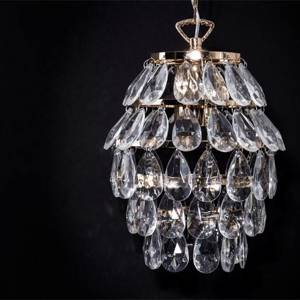 Pendant with golden glass prisms | No. K1074 | Alt. 31360 | DPH Trading