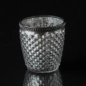 Tealight antique silver with metal ring