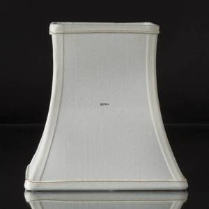 Square lampshade height 18 cm, white silk | No. K181218D0671R | DPH Trading