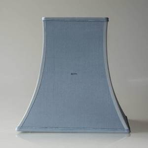 Square lampshade height 24 cm, light blue silk fabric | No. K241424A0933R | DPH Trading
