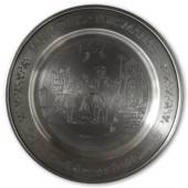 Scandia Tin Pewter January plate