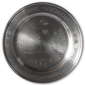 Scandia Tin Pewter February plate