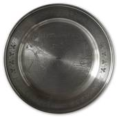 Scandia Tin Pewter March plate